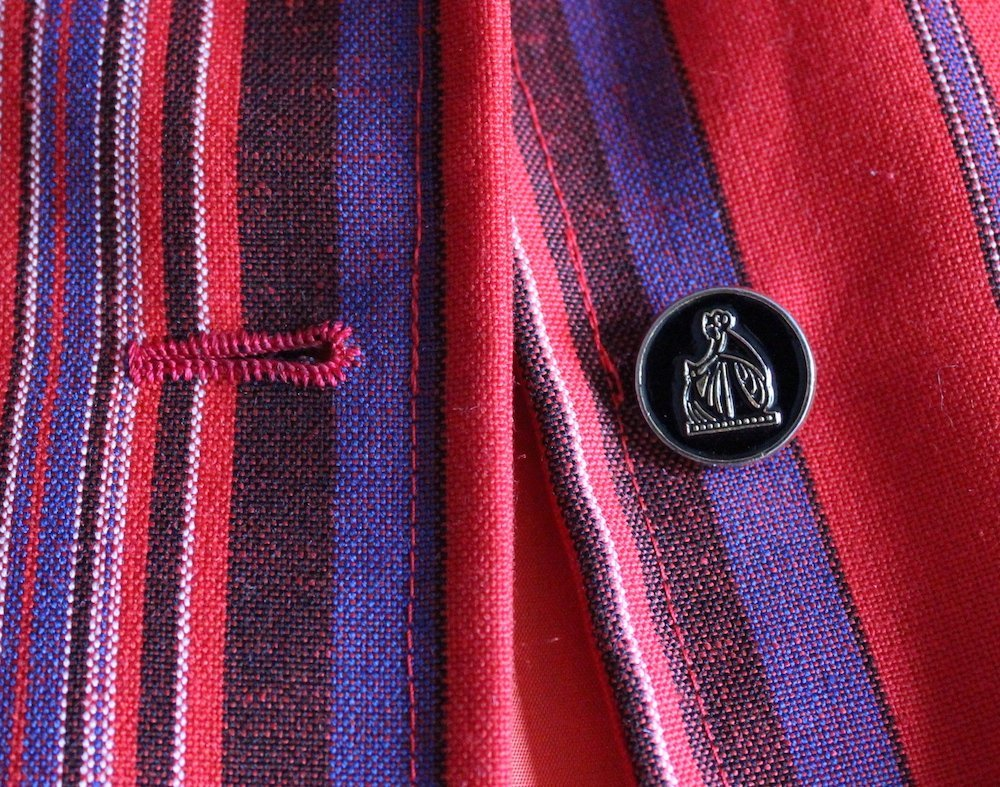 Lanvin Haute Couture Striped Jacket, ca. 1970's - 4
