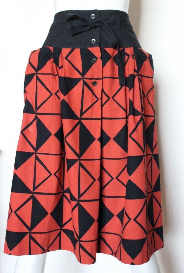 Guy Laroche Difussion Cotton Skirt, ca. 1970's