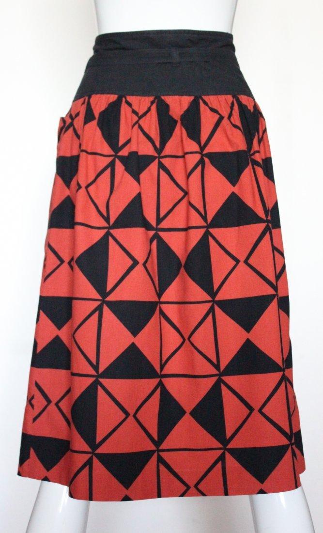 Guy Laroche Difussion Cotton Skirt, ca. 1970's - 2