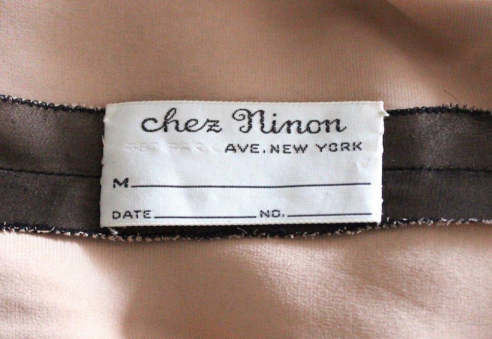 Chez Ninon Couture Polka Dot Tulle Dress, ca.1970's - 4