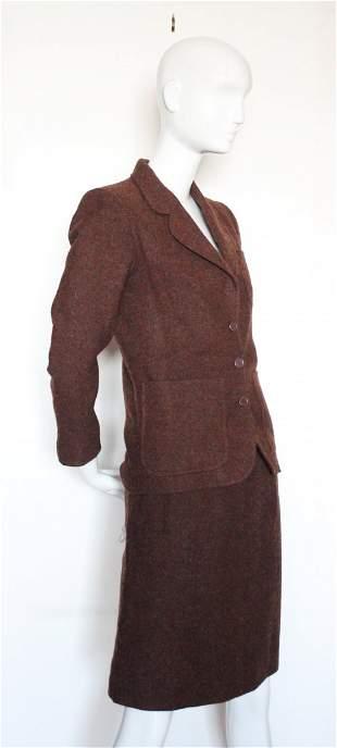 Yves Saint Laurent Rive Gauche Tweed Suit ca1970s
