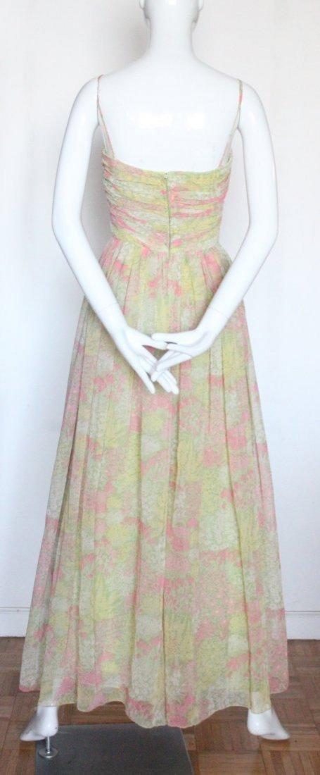 Larry Aldrich Floral Chiffon Maxi Dress,1970's - 3