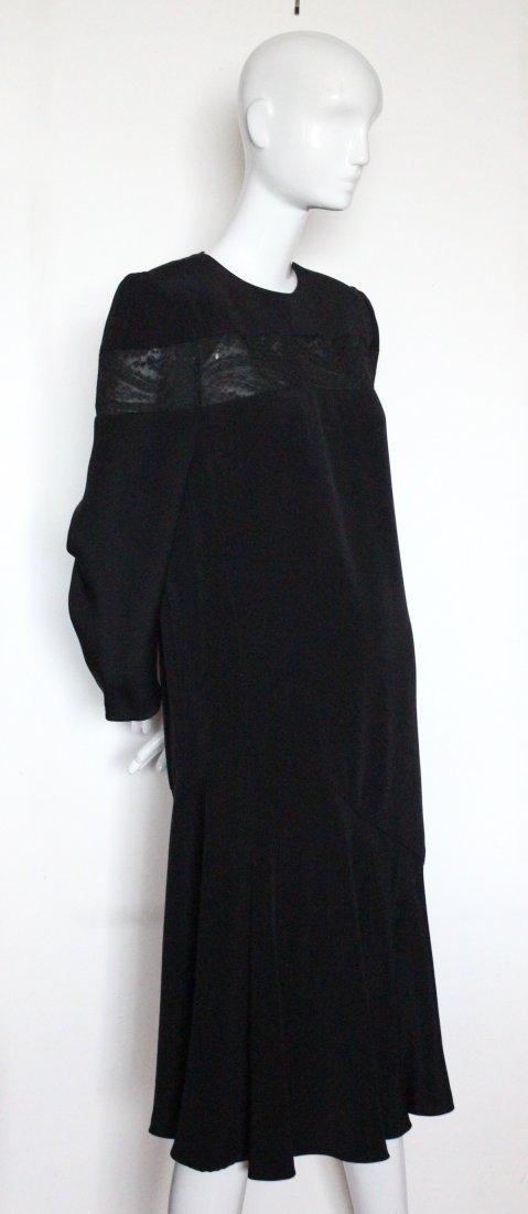 Andre Laug Haute Couture Silk & Lace Dress ca.1980's