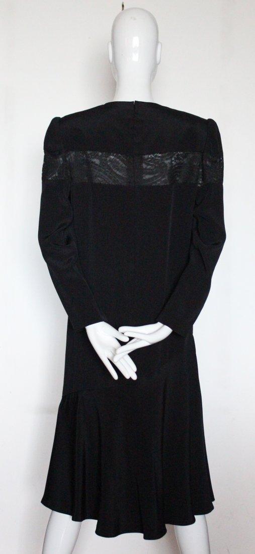 Andre Laug Haute Couture Silk & Lace Dress ca.1980's - 3