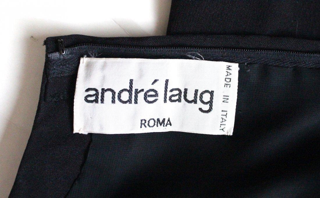 Andre Laug Haute Couture Silk & Lace Dress ca.1980's - 4