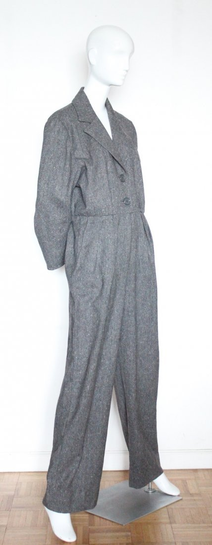 Yves Saint Laurent Wool Tweed Jumpsuit, F/W 1985