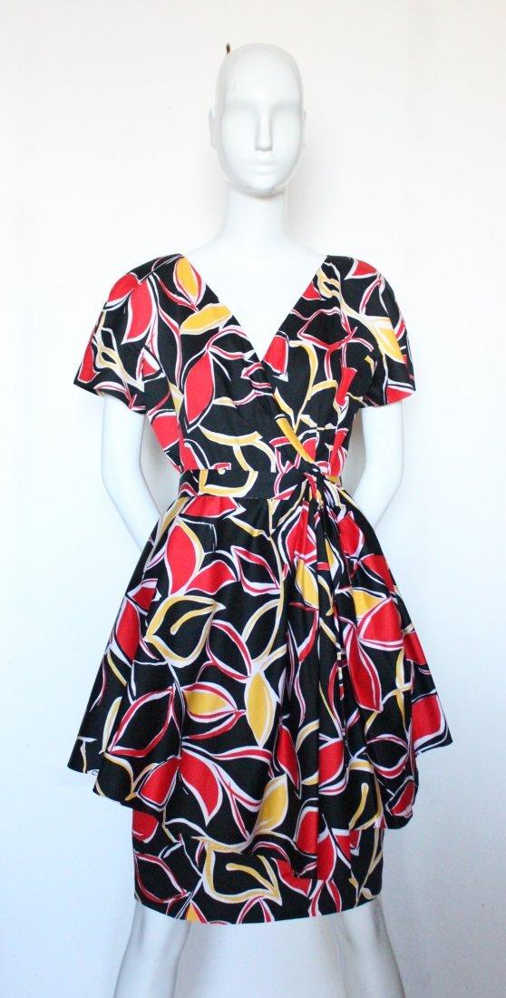 Guy Laroche Boutique Paris Cotton Dress, ca.1980's