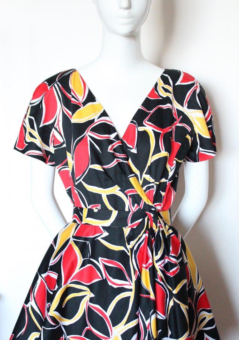 Guy Laroche Boutique Paris Cotton Dress, ca.1980's - 2