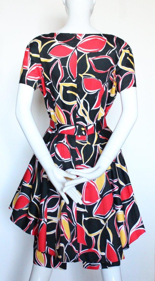 Guy Laroche Boutique Paris Cotton Dress, ca.1980's - 4