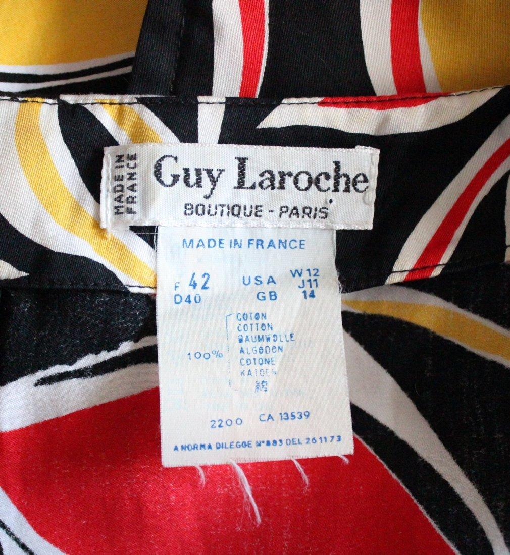 Guy Laroche Boutique Paris Cotton Dress, ca.1980's - 5