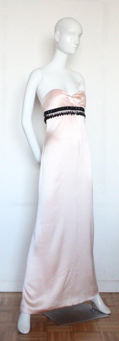Oscar de La Renta Pink Silk Evening Dress, ca. 1990's