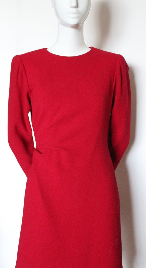 Yves Saint Laurent Haute Couture Red Dress F/W 1992 - 2