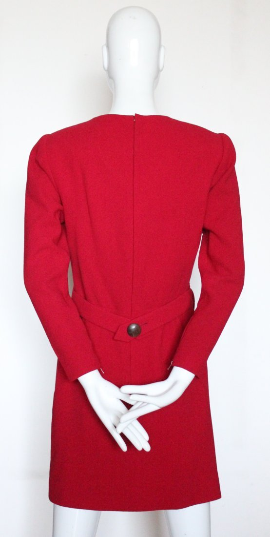 Yves Saint Laurent Haute Couture Red Dress F/W 1992 - 3