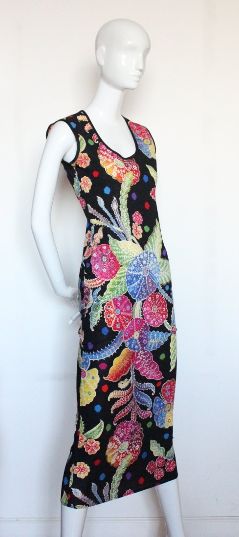 Gianni Versace Couture Floral Print Dress, S/S 1993