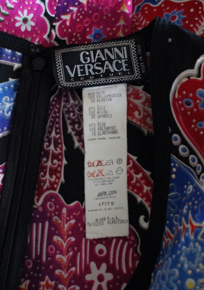 Gianni Versace Couture Floral Print Dress, S/S 1993 - 4