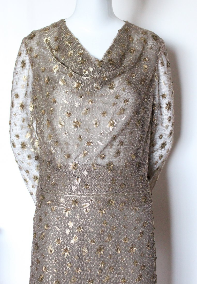 Bill Blass Embroidered Metallic Lace Suit, ca. 1990's - 2