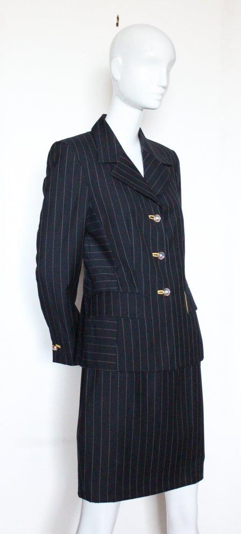 Escada by Margaretha Ley Pin Stripe Suit, ca.1990's
