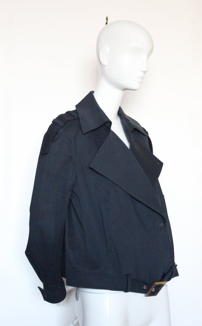 Thierry Mugler Couture Navy Cotton Jacket, ca. 1990's