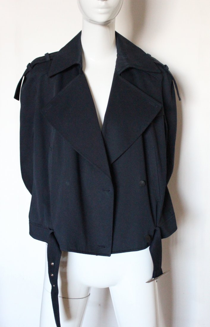 Thierry Mugler Couture Navy Cotton Jacket, ca. 1990's - 2
