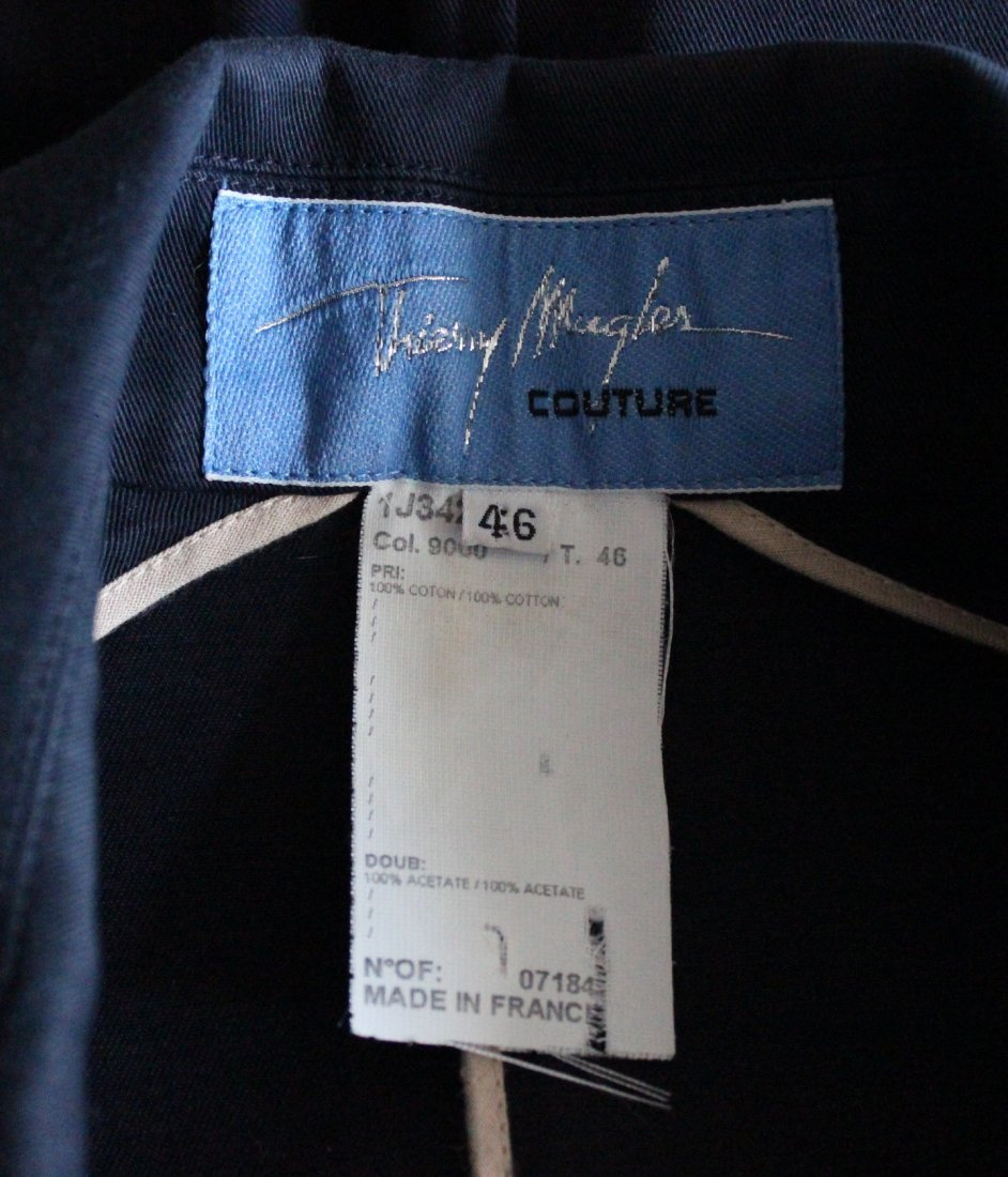 Thierry Mugler Couture Navy Cotton Jacket, ca. 1990's - 4