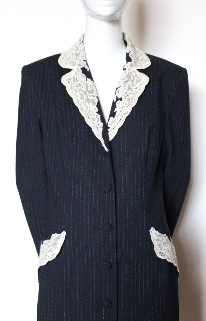Christian Dior by John Galliano Lace & Wool Coat 1998