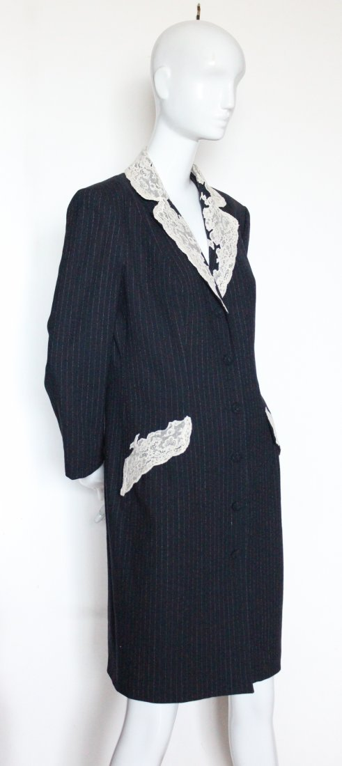 Christian Dior by John Galliano Lace & Wool Coat 1998 - 2