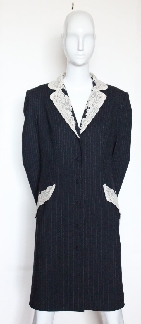 Christian Dior by John Galliano Lace & Wool Coat 1998 - 3