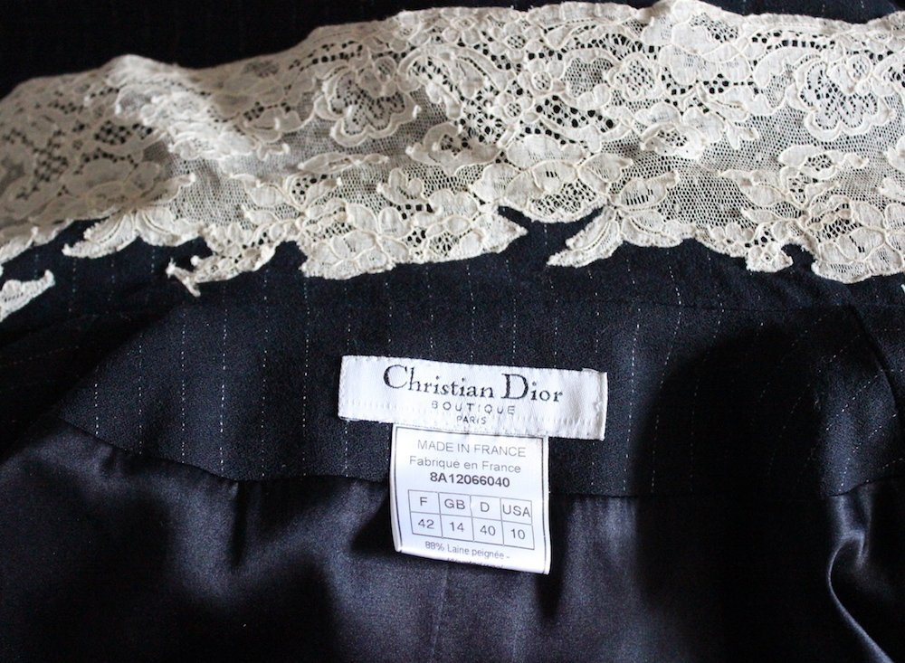 Christian Dior by John Galliano Lace & Wool Coat 1998 - 5