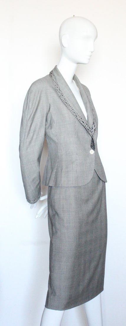 Christian Dior by John Galliano Plaid Suit, S/S 2000