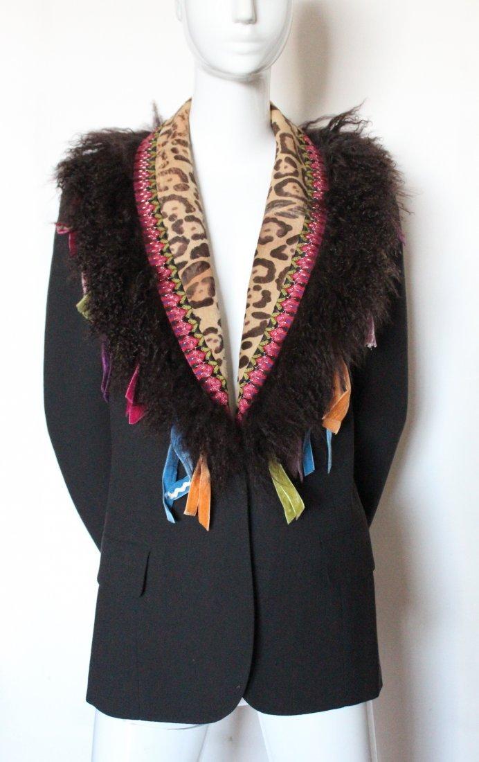 John Galliano Brown Crepe Jacket, F/W 2002