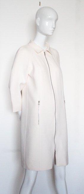 Courreges Paris Beige Wool Coat, ca. 2000's - 2