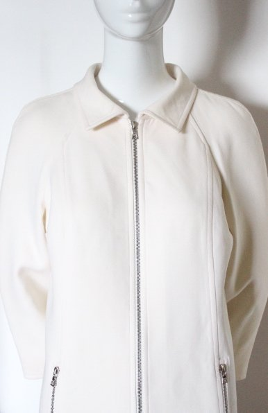 Courreges Paris Beige Wool Coat, ca. 2000's - 3