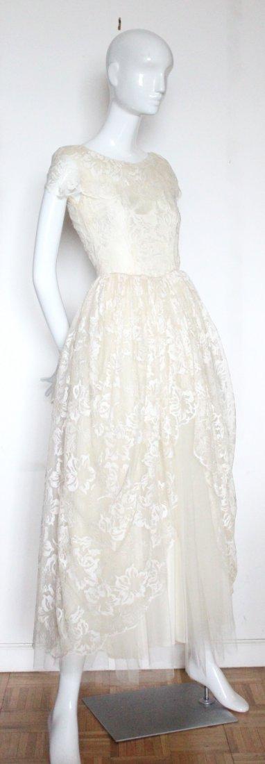 Hattie Carnegie Lace Wedding Dress, ca. early 1940's
