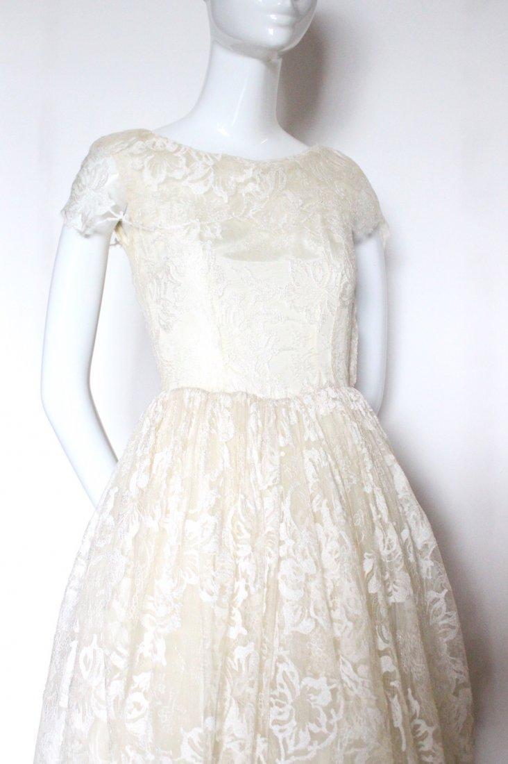 Hattie Carnegie Lace Wedding Dress, ca. early 1940's - 2