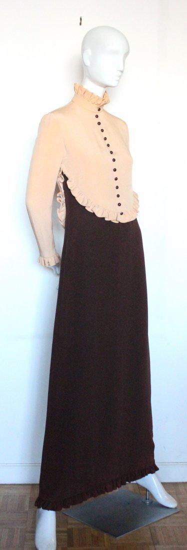 Geoffrey Beene Color Block Silk Maxi Dress, ca. 1970's