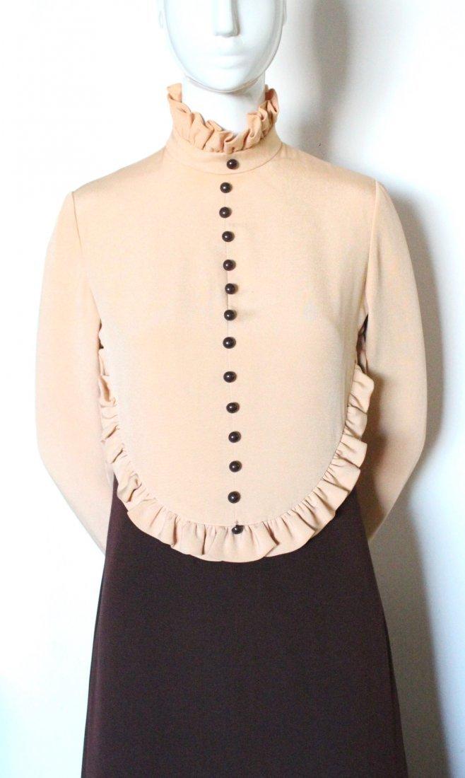 Geoffrey Beene Color Block Silk Maxi Dress, ca. 1970's - 2