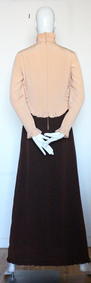 Geoffrey Beene Color Block Silk Maxi Dress, ca. 1970's - 3
