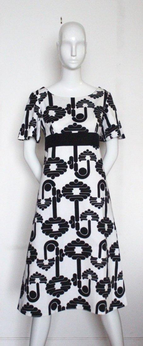 Pierre Cardin Paris Black & White Dress, 1973