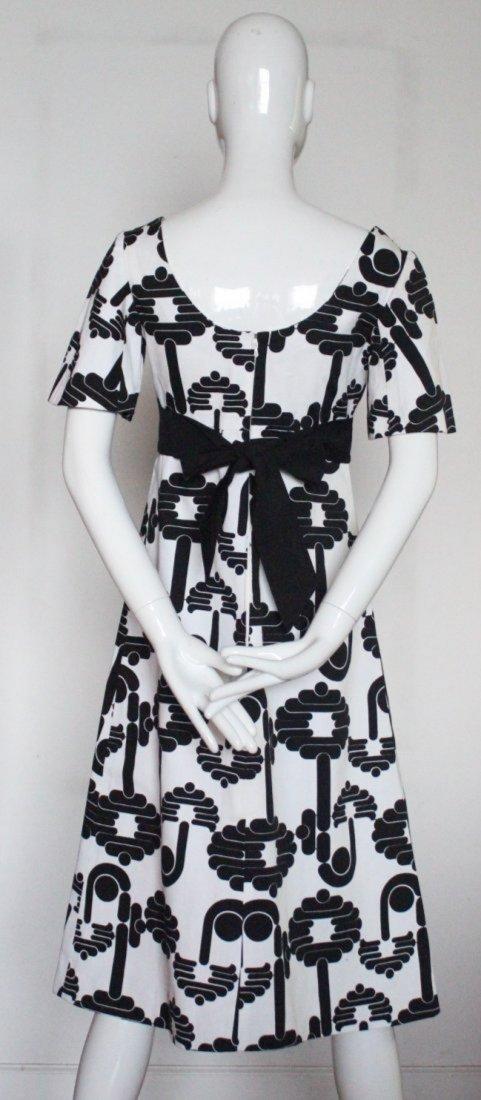 Pierre Cardin Paris Black & White Dress, 1973 - 3