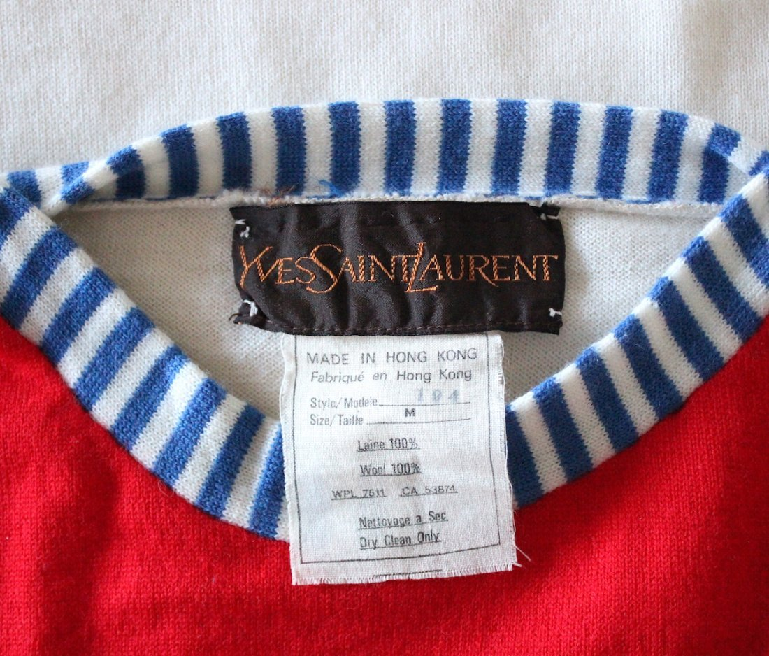 Yves Saint Laurent Wool Sweater, ca. 1970's - 3