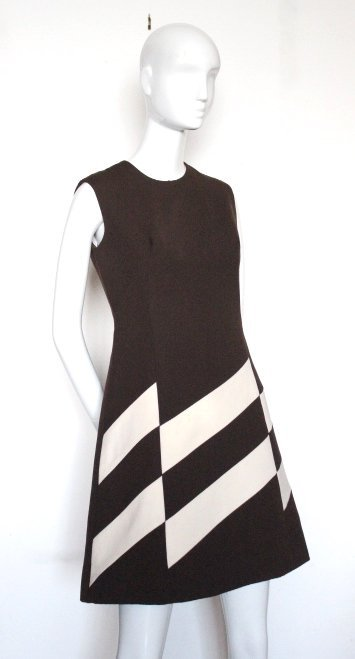Rare Ted Lapidus Haute Couture Space Age Dress, 1960's - 2