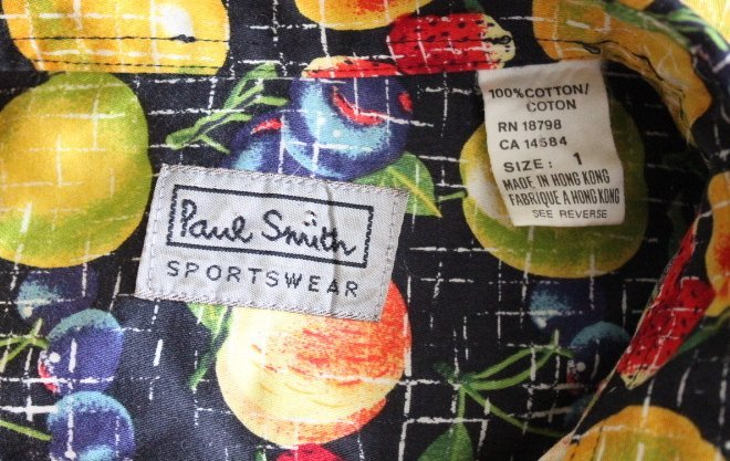Paul Smith Fruit Print Men's Shirt, ca. 1990's - 3