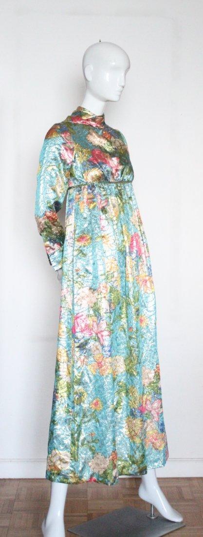 Jacques Heim Haute Couture Metallic Maxi Dress, 1960's