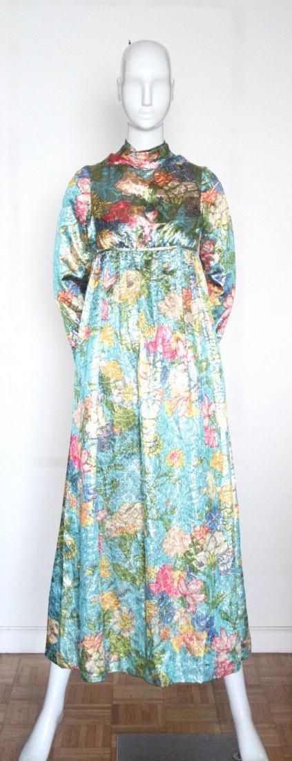 Jacques Heim Haute Couture Metallic Maxi Dress, 1960's - 2