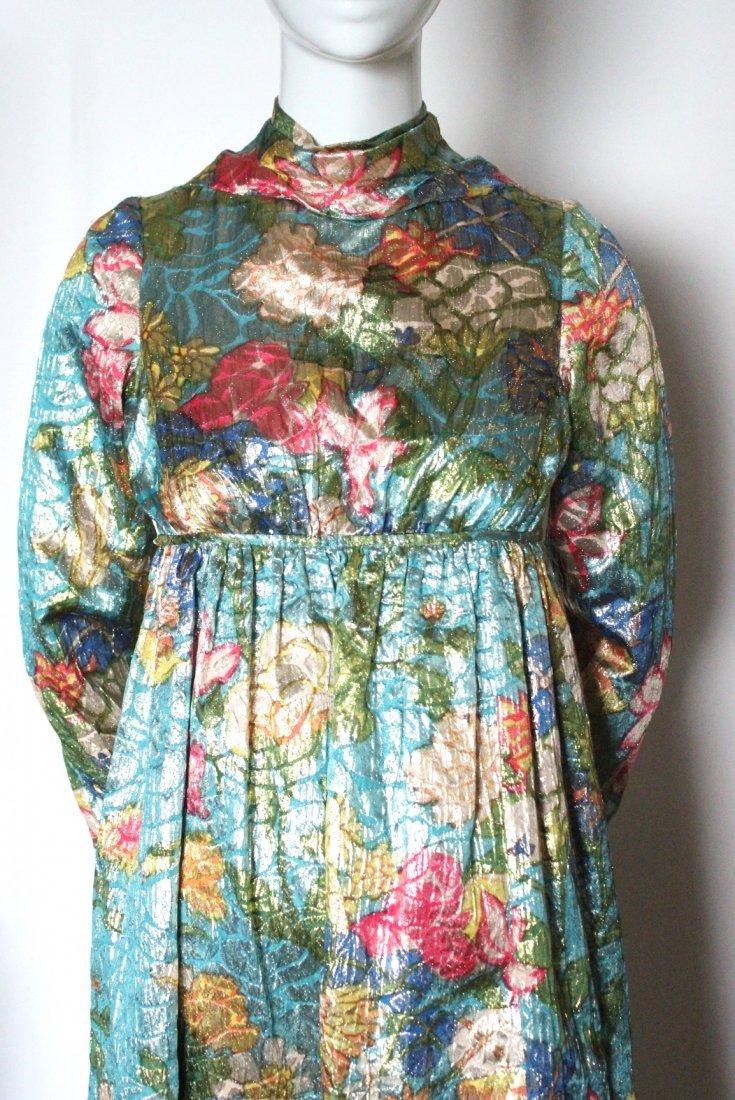 Jacques Heim Haute Couture Metallic Maxi Dress, 1960's - 3