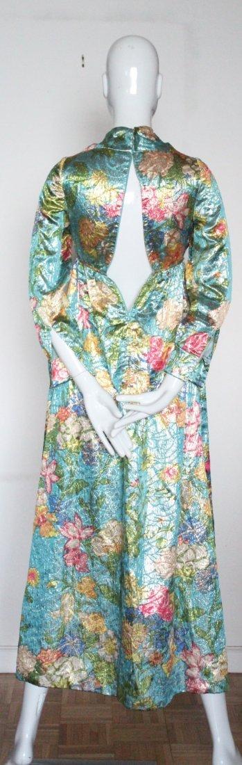 Jacques Heim Haute Couture Metallic Maxi Dress, 1960's - 4