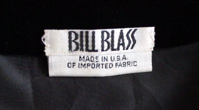 Bill Blass Couture Silk Crepe & Velvet Dress, ca.1980's - 5