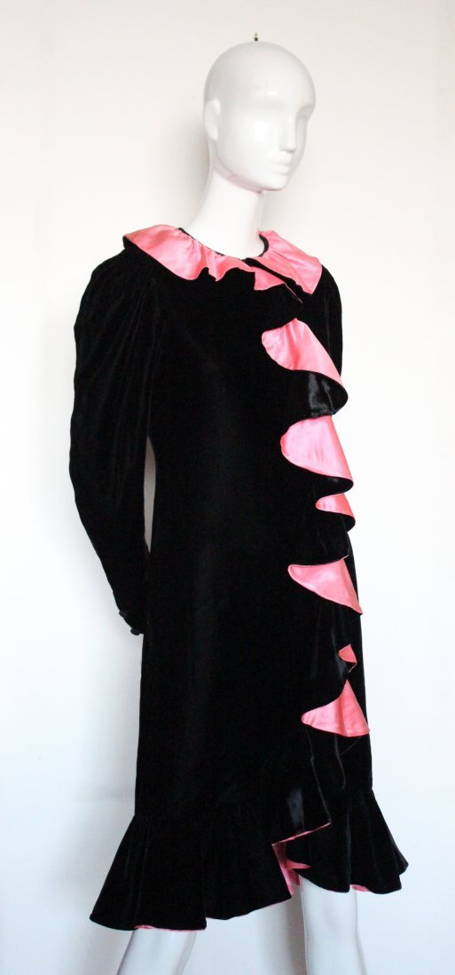 Oscar De La Renta Flamenco Inspired Dress, ca. 1980's - 2