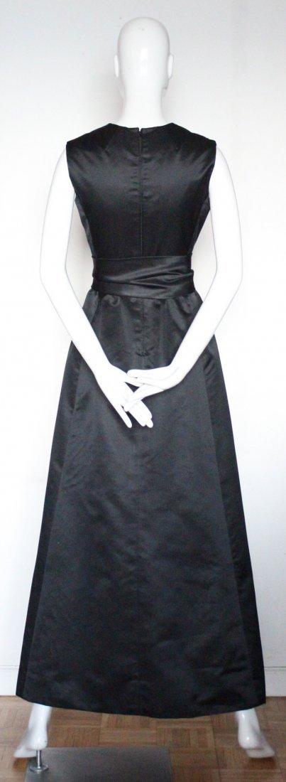 Oscar De La Renta Black Satin Evening Gown, ca. 1960's - 3