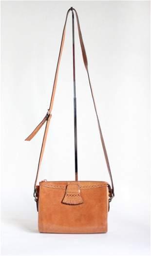 Perry Ellis Portfolio Leather Shoulder Bag ca1980s90s